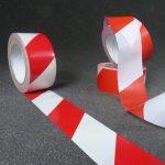 Ruban signalisation, rubalise de signalisation rouge et blanc