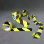 Ruban balisage, signalisation rubalise jaune et noir